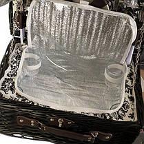 Корзина из лозы для пикника на 4 персоны + сумка-холодильник (024PPN), фото 3
