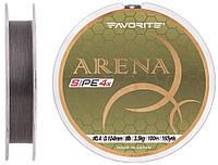 Шнур Favorite Arena PE 100m #0.4/0.104mm 8lb/3.5kg Серебристо-серый (1693.10.95)