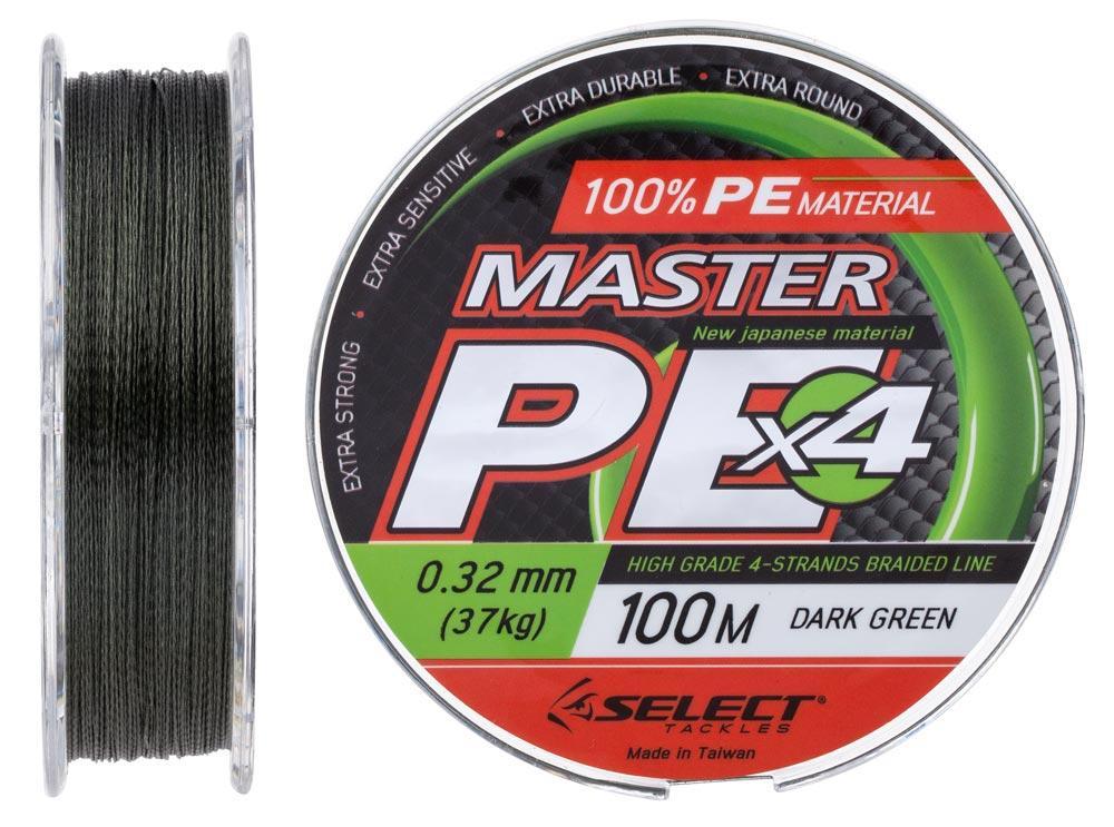 Шнур Select Master PE 100m 0.32мм 37кг Темно-зеленый (1870.15.97)