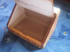 Хлібниця з дерева ручної роботи, фото 3