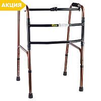 Ходунки шагающие B4030 №2, NOVA складные медицинские алюминиевые для инвалидов, взрослых (пожилых)