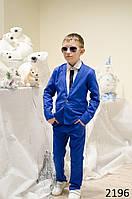 Костюм брюки+пиджак на мальчика лен 98-104 104-110