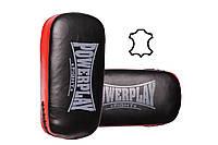 Пади для тайського боксу PowerPlay 3064 Чорно-Червоні Шкіра [пара], фото 1