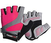 Велорукавички PowerPlay 5004 А Рожеві L, фото 1