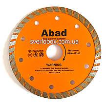 """Алмазний диск по кераміці """"ABAD"""" Турбоволна 125*22.22*7"""