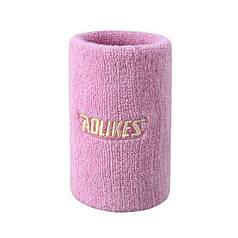 Напульсник от пота AOLIKES 0235 Pink эластичный