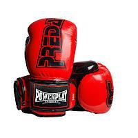 Боксерські рукавиці PowerPlay 3017 Червоні карбон 14 унцій, фото 1