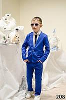 Костюм брюки+пиджак подросток лен 134-140 140-146 146-152