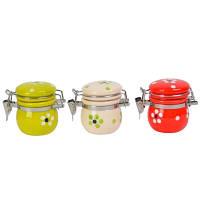 Баночка для сыпучих продуктов Цветочек SKL11-209683