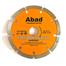 """Алмазный диск по керамике """"ABAD"""" Сегмент 125*22.22*8"""