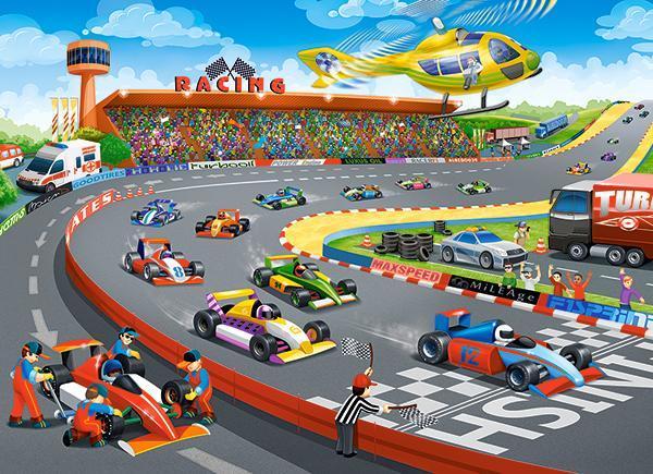 Пазлы ''Формула гонки'' Castorland  100 элементов
