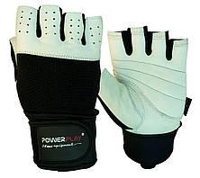 Рукавички для фітнесу PowerPlay 1069 Чорно-Білі S