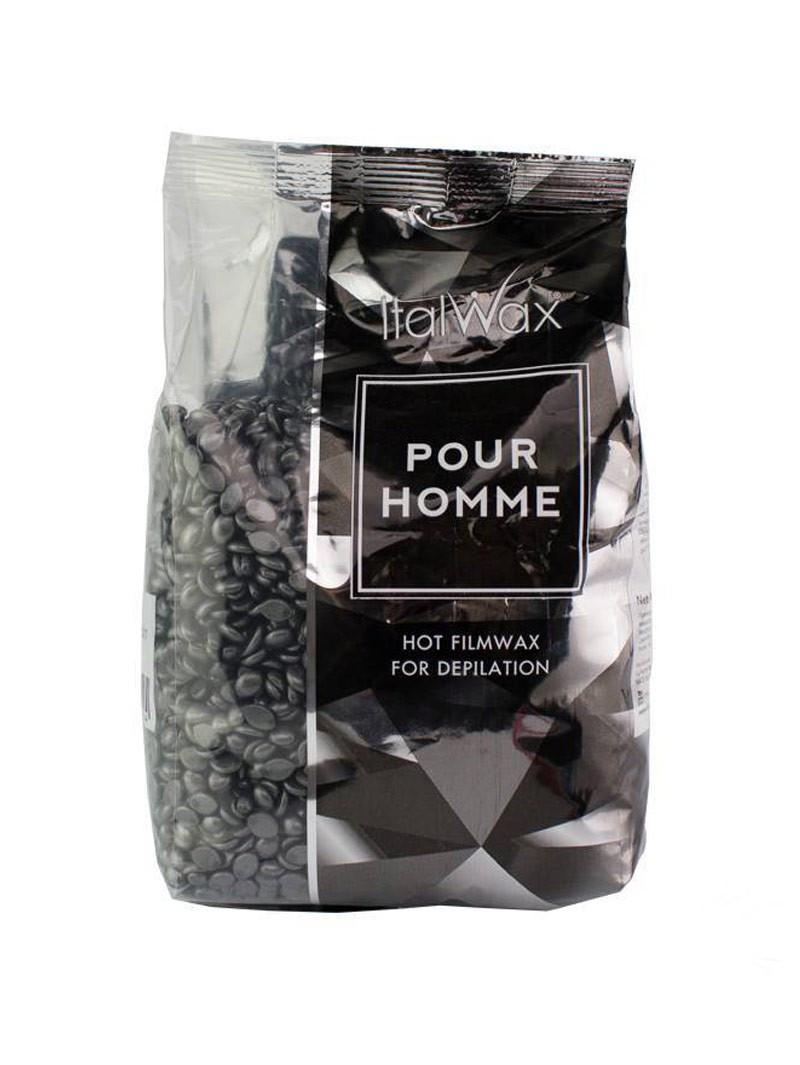 Горячий воск в гранулах Italwax Мужской, для очень жестких волос (Silver Pour Homme), 1000 гр.