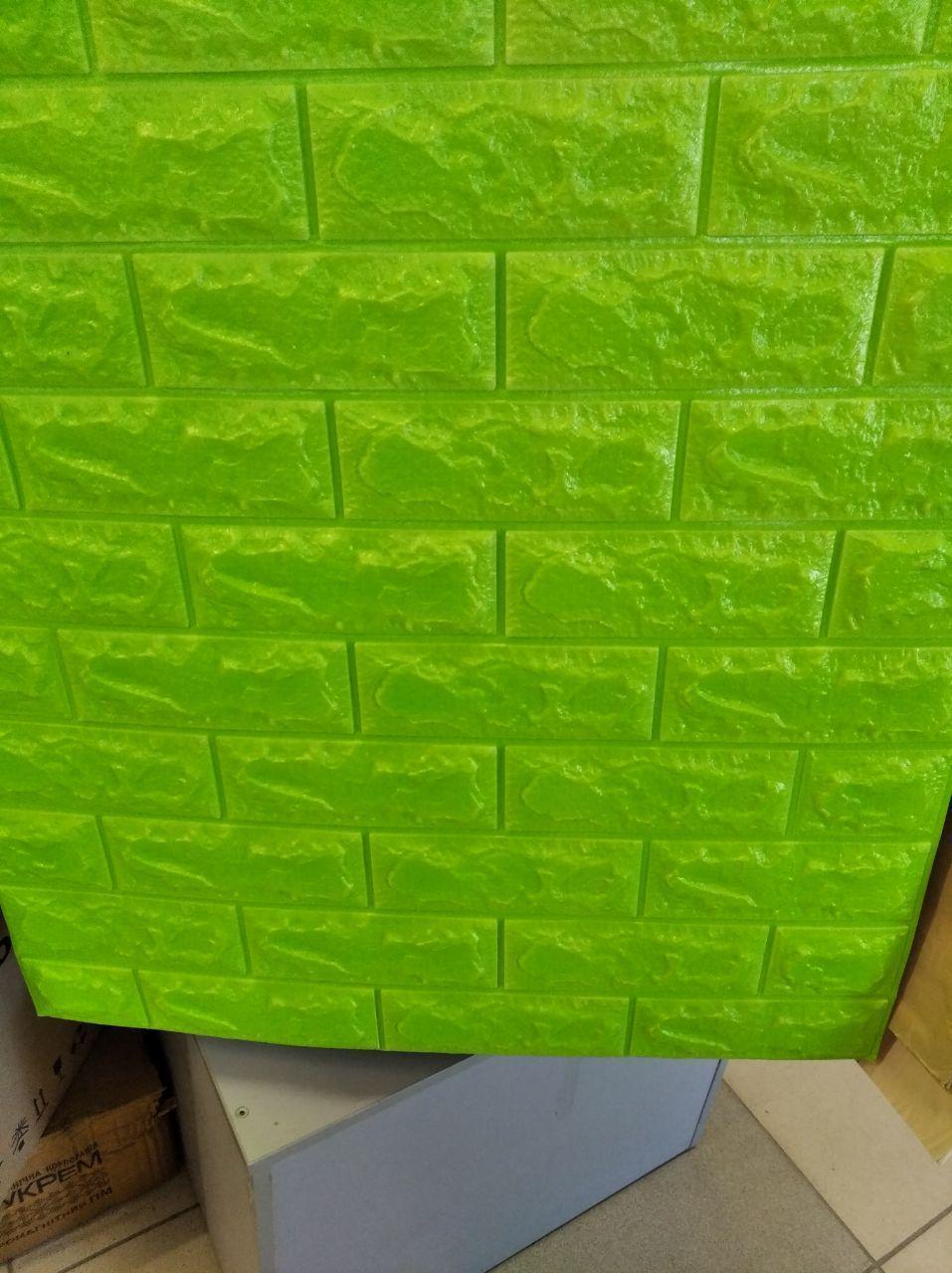 Панель стеновая 3D Sticker Wall Sticker Wall самоклеющаяся 70х77 см зеленый кирпич