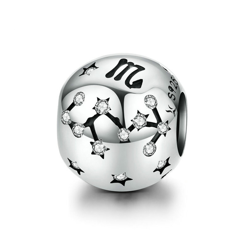 """Шарм """"Знак зодиака Скорпион"""" серебро 925 проба, кубический цирконий"""