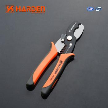 """Стриппер-резак для резки и зачистки проводов 8"""" (185 мм) Harden Tools 660627"""