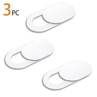 Шторка для веб-камеры 3 штуки Webcam Cover Privacy Protection для смартфона, ноутбука, планшета CD432 White