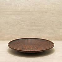 Тарелка средняя из красной глины, диаметр 25см, фото 1