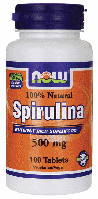 Спирулина органическая, Now Foods, Spirulina, 500 mg, 100 Tabs