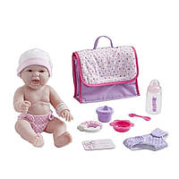 Реалистичный виниловый пупс с сумкой для подгузников и аксессуарами JC Toys La Newborn Designed by Berenguer.
