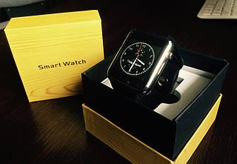 Умные часы A1 turbo. Оригинал! 12 месяцев гарантия! Черный-серебро