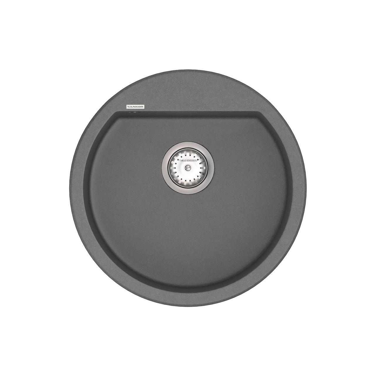 Кухонная мойка VANKOR Tera TMR 01.50 Gray + сифон VANKOR