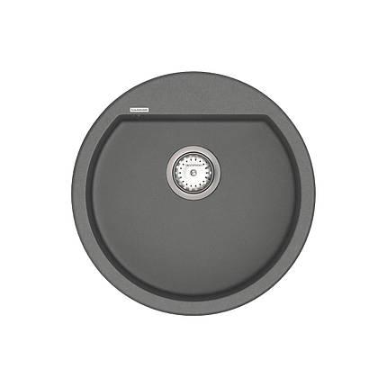 Кухонная мойка VANKOR Tera TMR 01.50 Gray + сифон VANKOR, фото 2