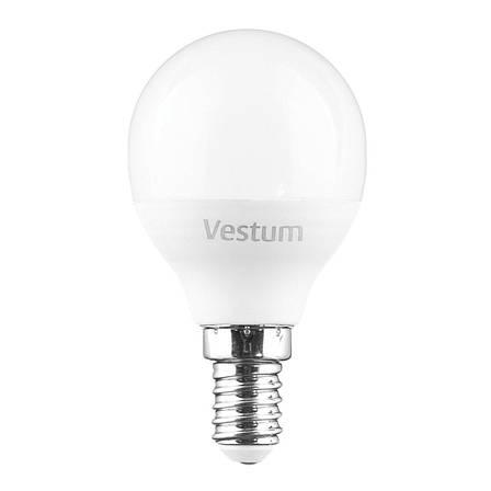 Лампа LED Vestum G45 6W 4100K 220V E14, фото 2