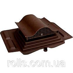 Вентиль кровельный Pelti KTV Вентиль покрівельний VILPE Шоколадный
