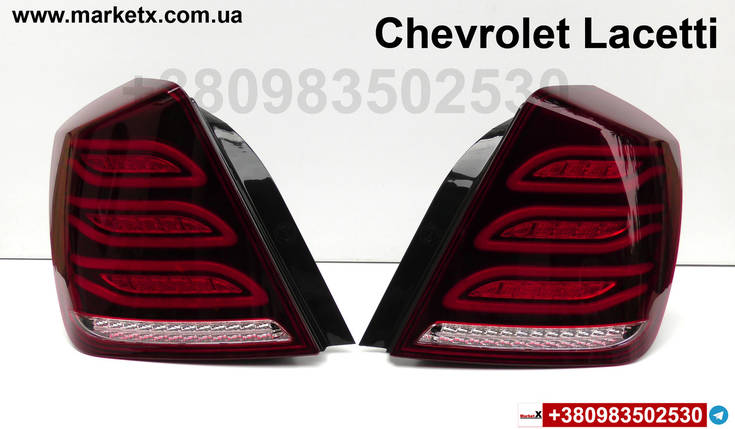 Задний фонарь стоп седан для Chevrolet Lacetti Лачетти в стиле W222 лед LED, фото 2