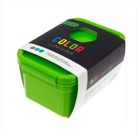 """Ланч-бокс """"Color Lunch Box"""" 850 мл.оранжевый   с наклейками Народный Продукт, фото 2"""