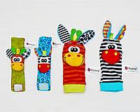 Развивающие браслеты и носочки погремушки Sozzy (набор 4 штуки) ОРИГИНАЛ