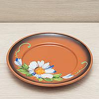 Тарелка обеденная, диаметр 21см, глазурь, художественная роспись, фото 1
