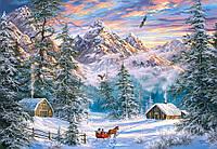 """Пазлы """"Рождество в горах"""" Castorland 1000 элементов"""