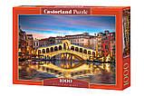Пазлы Мост Риальто ночью, Венеция, Castorland 1000 элементов, фото 2