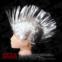 Парик белый Ирокез карнавальный