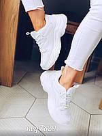 Белые кожаные  кроссовки 38 размер, фото 1
