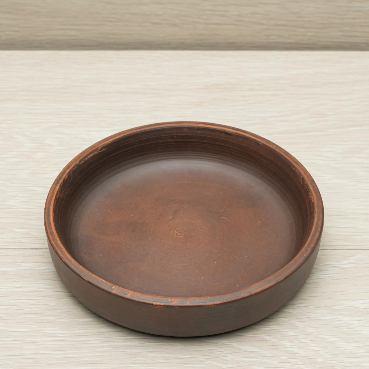"Тарелка глиняная гончарная ""Кеци"" диаметр 17 см"