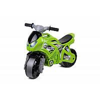 Детский зеленый мотоцикл