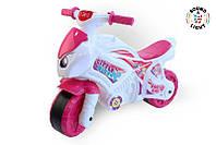 Детский розовый мотоцикл