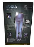 Машинка для стрижки волос Rozia HQ-257 + насадки, ножницы, расческа, фото 4