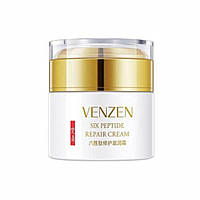 Розгладжуючий крем для лиця з шести пептидів Venzen Facial Six Peptide Repair Cream