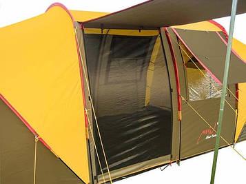 Палатка 6-и местная Mimir MM/Х-1820(р-р 610 (195+220+195) х230 х180см,коричневый-песочный)