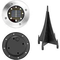 Светильник на солнечной батарее Solar Disk Lights 8LED комплект 4 шт Уличный светильник Lesko, фото 3