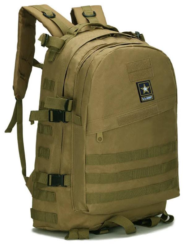 Тактический (штурмовой, военный) рюкзак U.S. Army 45 литров Песочный