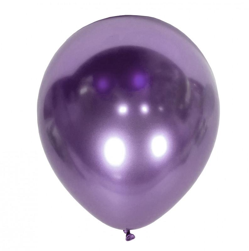 Шарики с гелием фиолетовый-хром 30см