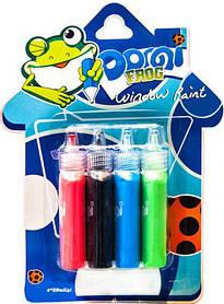 """Фарби по склу (вітражні) """"Domi Frog"""" (4 кольорів./20 мл)"""