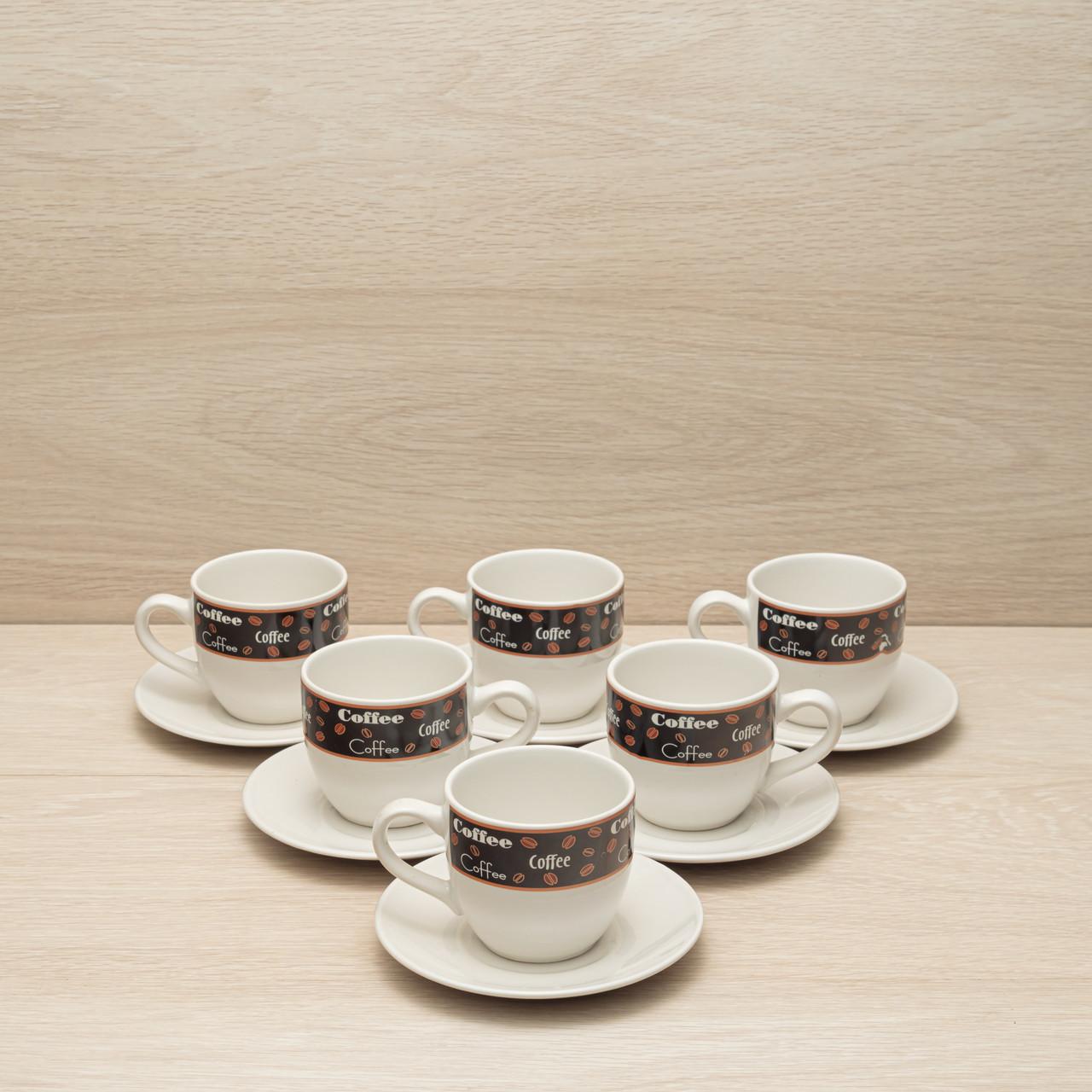 """Кофейный набор """"Coffee"""" 6 чашек + 6 блюдец"""