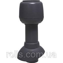 Вентиляционный выход 110/300 Н + колпак Вентиляційний вихід VILPE Серый