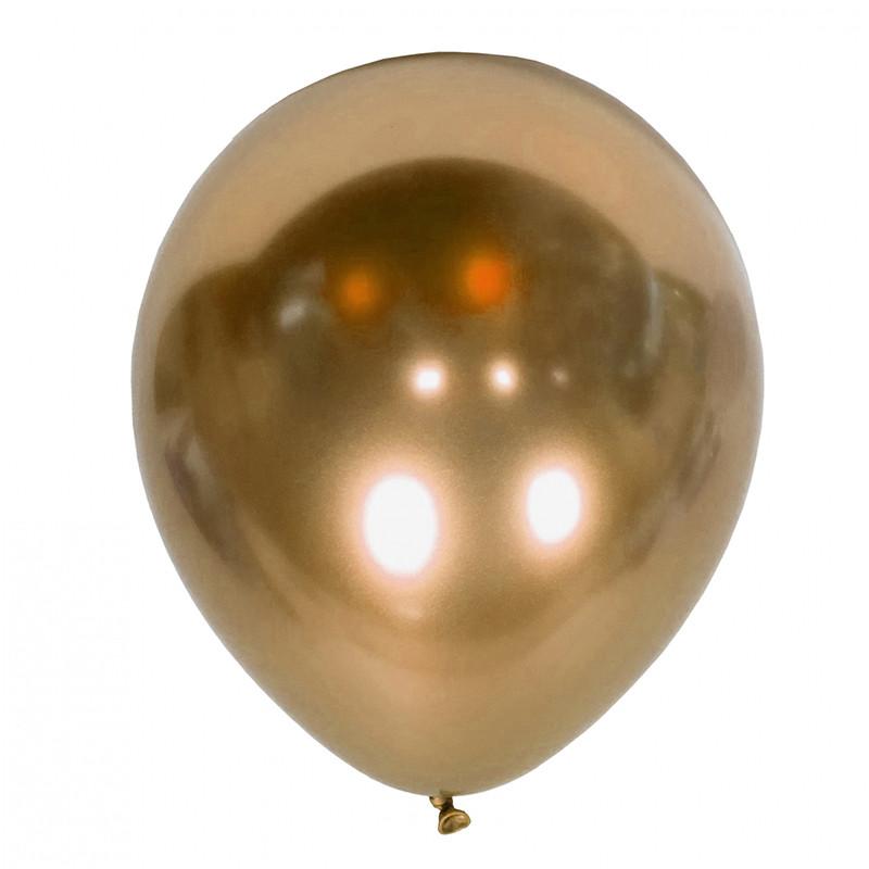 Шарики с гелием золото-хром 30см